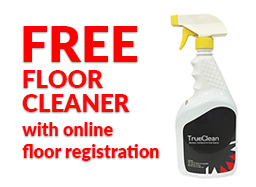 FREE FLOOR CLEANER with online Teragren floor registration